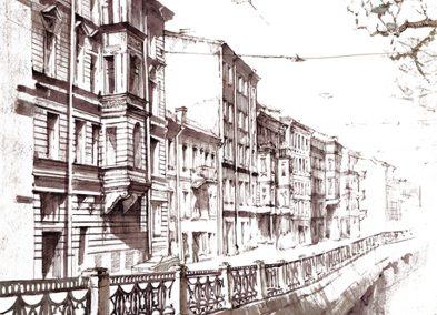 Hafenpartie in Sankt Petersburg