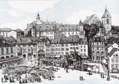 Barfüsserplatz in Basel