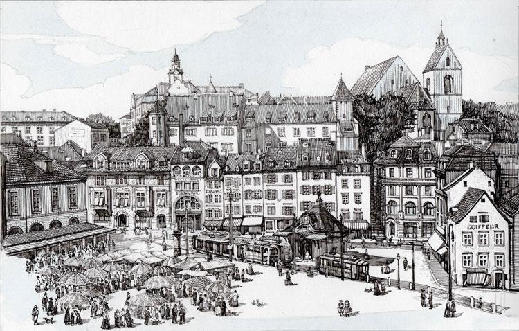 Barfüsserplatz in Basel