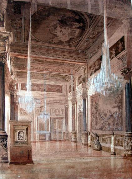 Der «Leonardo da Vinci-Saal der Eremitage in Sankt Petersburg